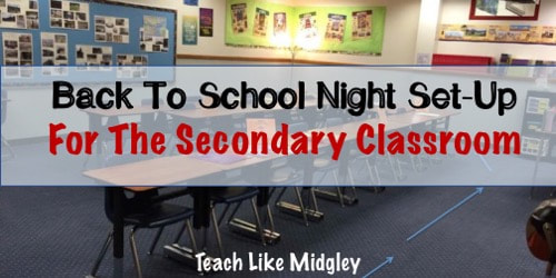 Back To School Night in Middle School