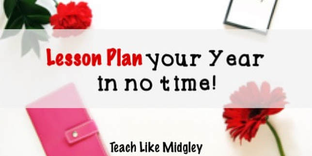 Lesson Plan Your Year using these easy steps