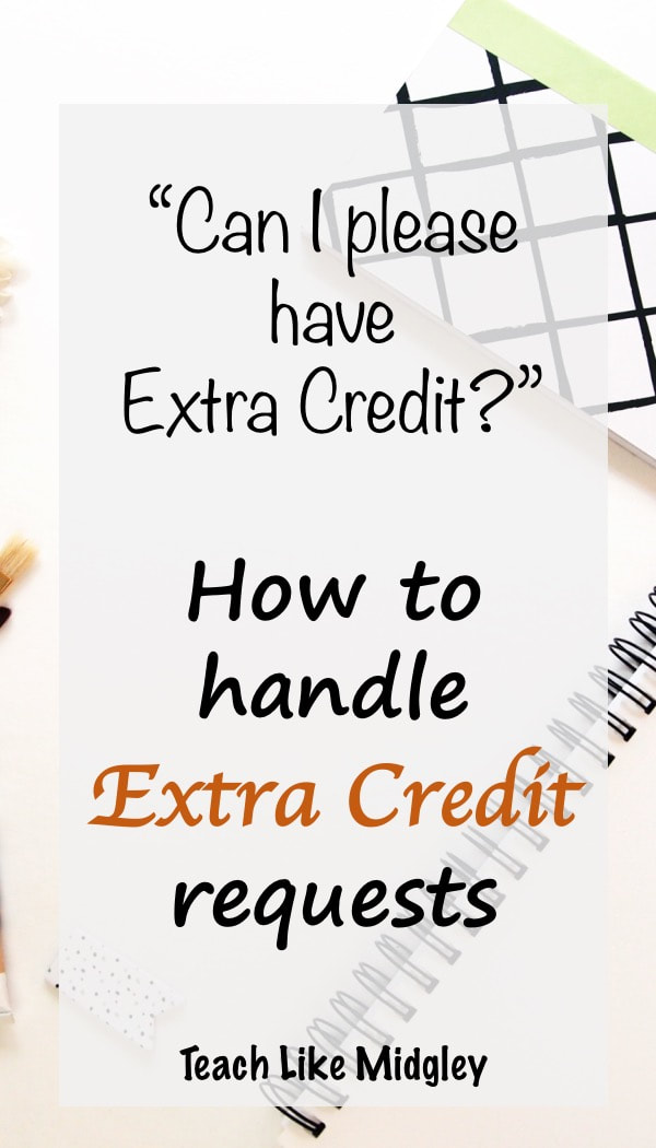 How to handle extra credit requests